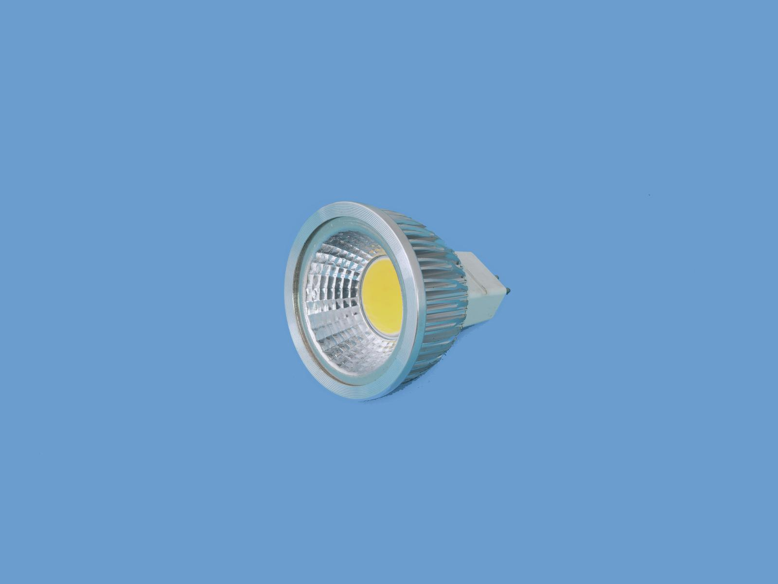 Fotografie Omnilux LED žárovka MR-16 12V GX-5,3 5W COB LED 3000K, teplá bílá
