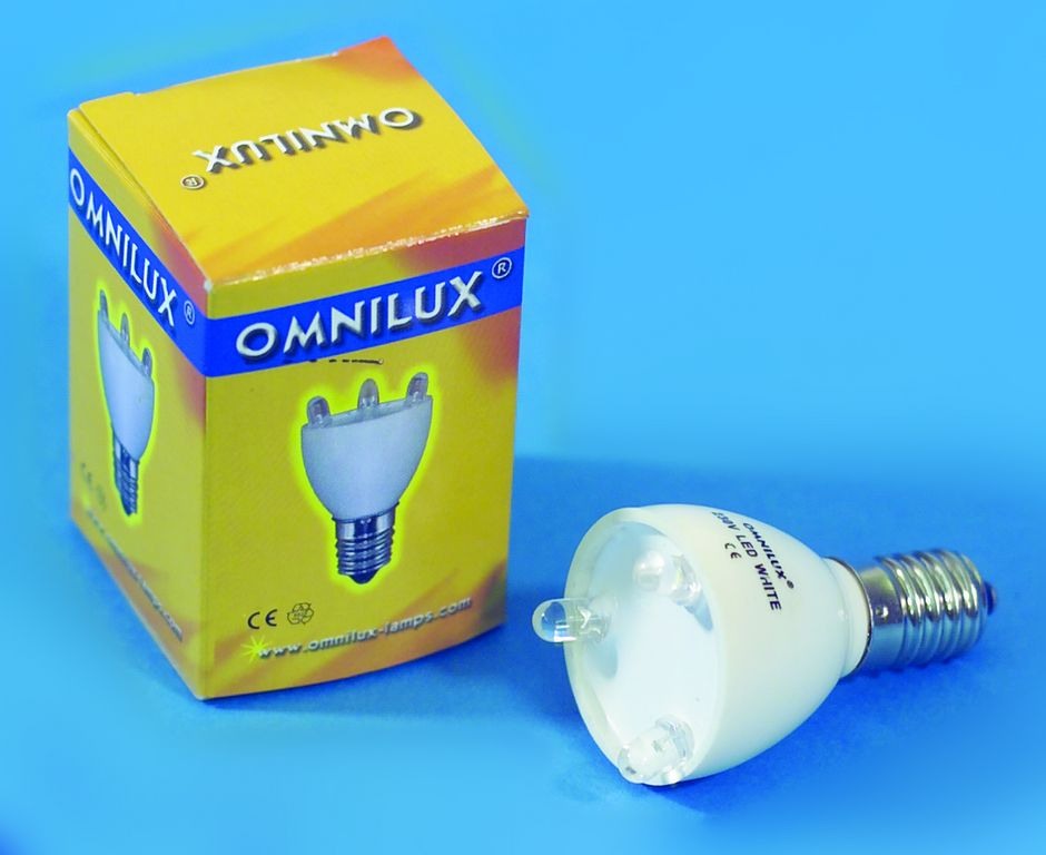 Fotografie 230V E14 0.2W LED Omnilux, bílá