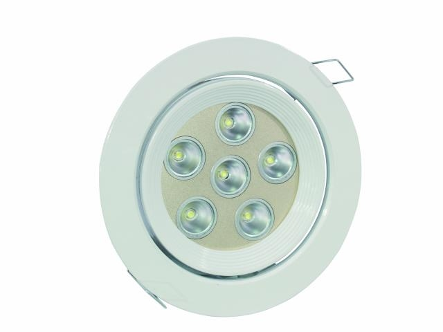 LED spot DL-6-40, 6x 3 W zelené LED