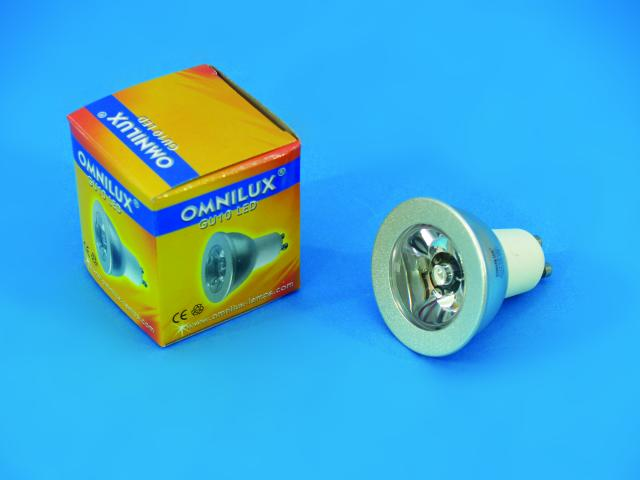 Fotografie 230V GU-10 1W LED Omnilux, žlutá C