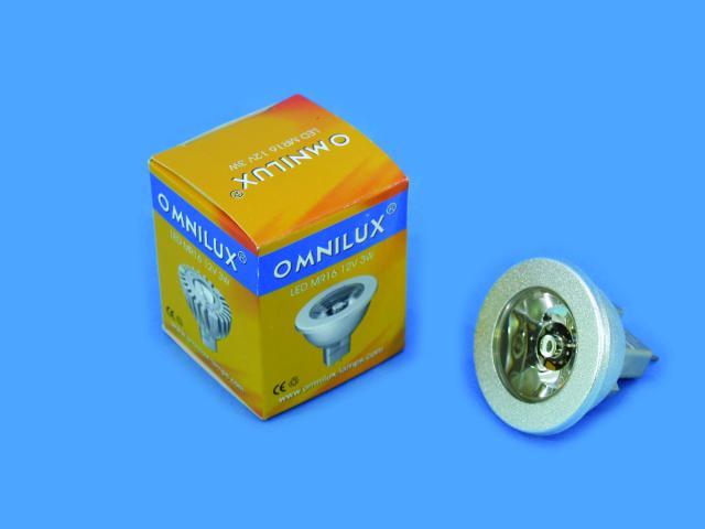 Fotografie 12V MR-16 GU-5.3 Omnilux, 3W LED zelený