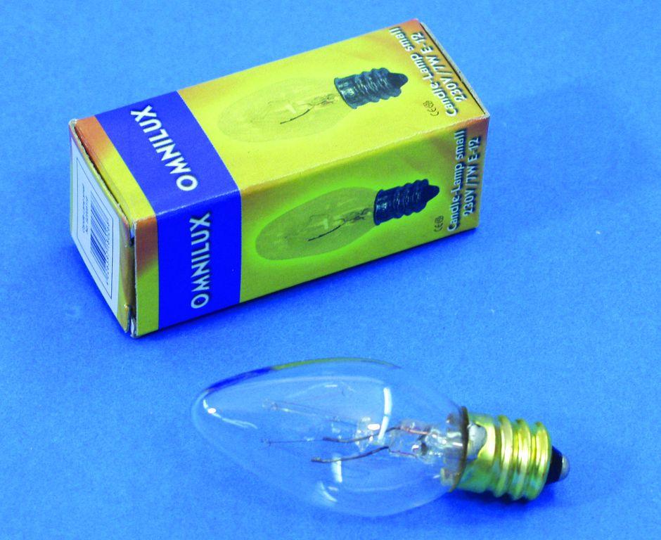 Halogenová la 230v/7w mléčná žárovka e12 pro rl-8 omnilux