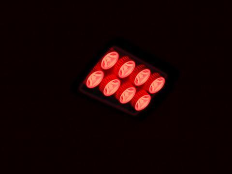 Fotografie Eurolite LED IP FL-8 červený, 60°