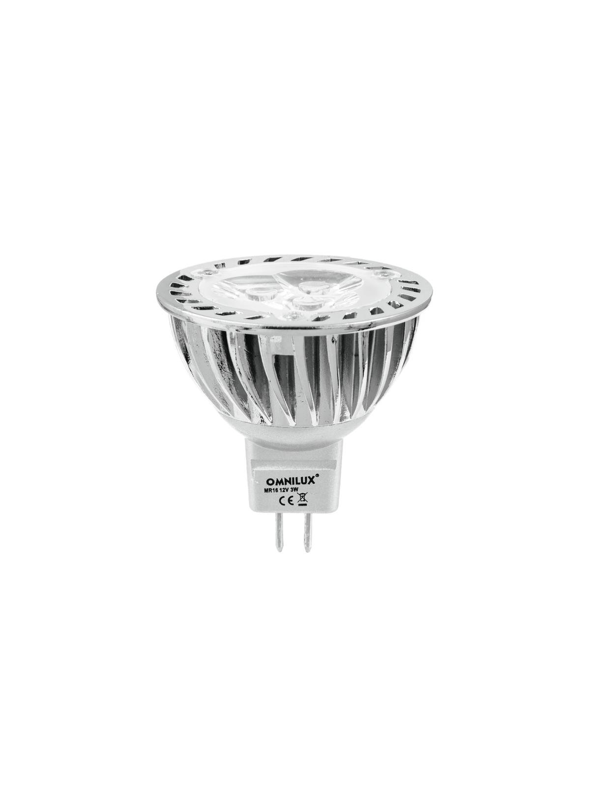 LED žárovka 12V MR-16 GU-5.3, 3x1W LED žlutá