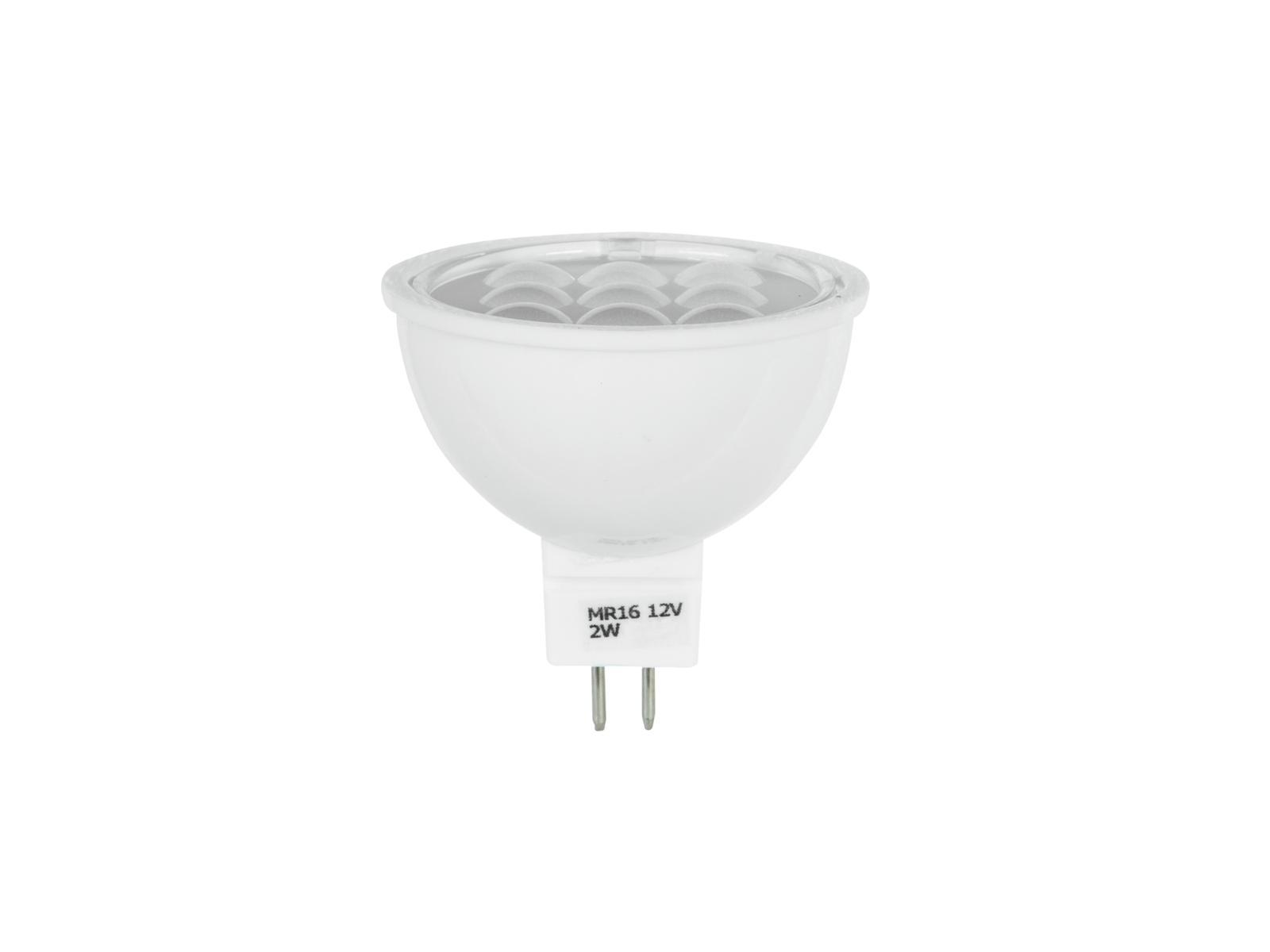 LED žárovka 12V 2W SMD GU5.3 MR-16 Omnilux, červená