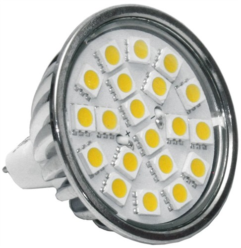 LED žárovka 12V/4W MR16 S20 3000K, teplá bílá