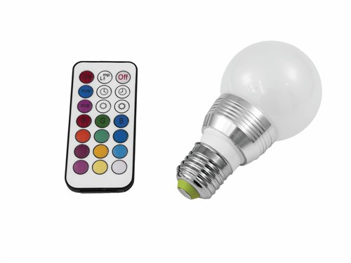 Omnilux LED RGB žárovka A60 230V 5W E27 multicolor s DO