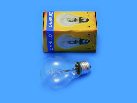 Klasická žárovka 230V/28W E-27 A19 Omnilux čirá