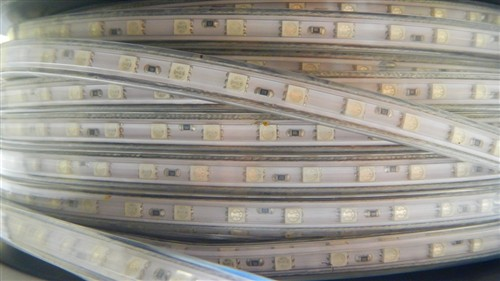 Fotografie LED páska SMD5050, RGB, AC220V, 1m, 60 LED/m, IP65